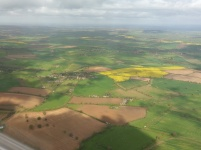 Flying over Cotswolds villages