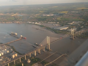 Flying over the QE2 Bridge