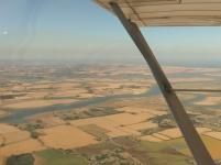 Flying over the Thames estuary